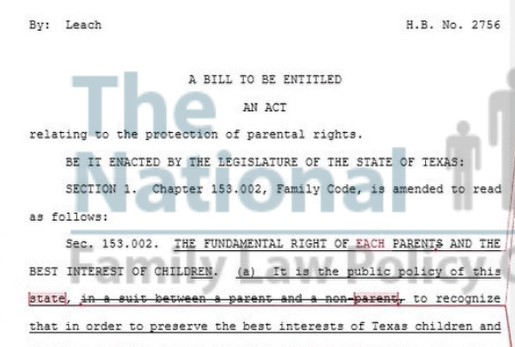 A Parental Rights Bill in Texas HB 2756 | The National Family Law